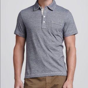 Billy Reid Pensacola Space-Dye Polo Shirt   L